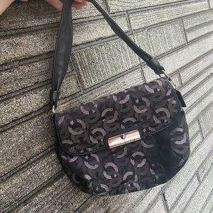 Authentic Coach Tote Bag Purse Black & Grey Bag